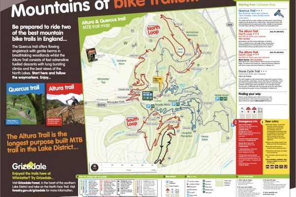 Whinlatter Mountain Biking trail Map